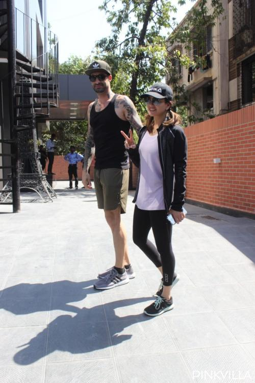 Sunny Leone and Daniel Weber strike a cool pose together as they step out; see photos