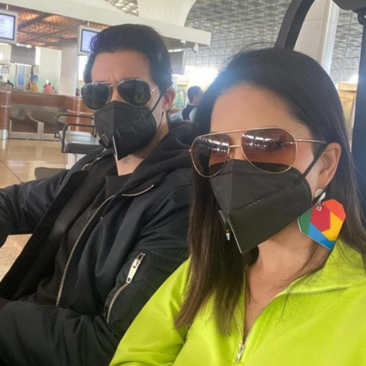 Sunny Leone urges people to be 'smart and safe' from the Coronavirus in her latest post with Daniel Weber