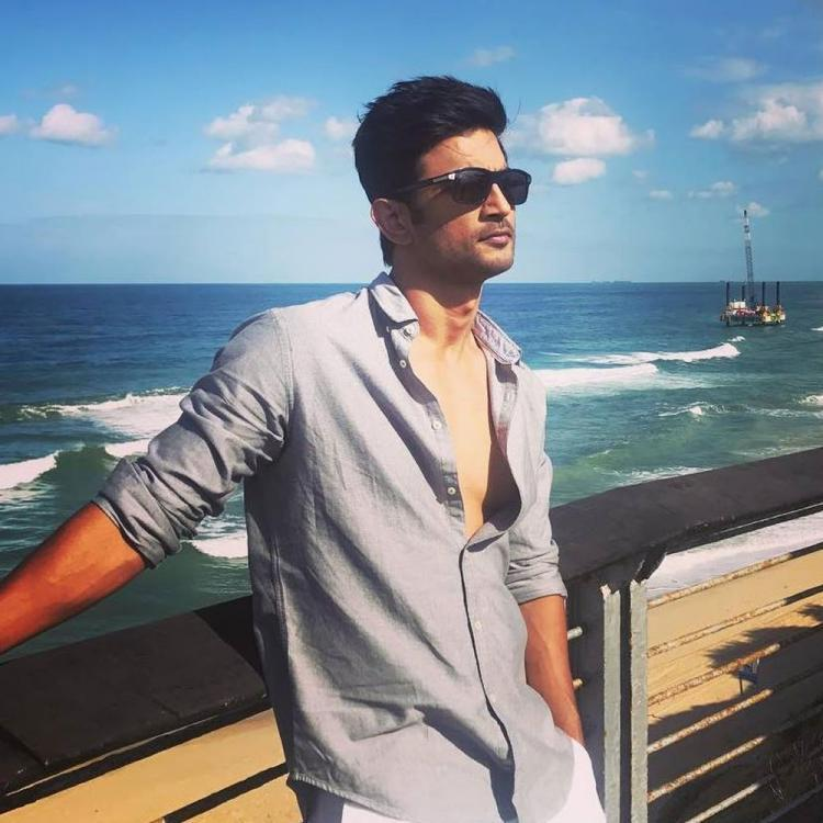 Late actor Sushant Singh Rajput by the beach.
