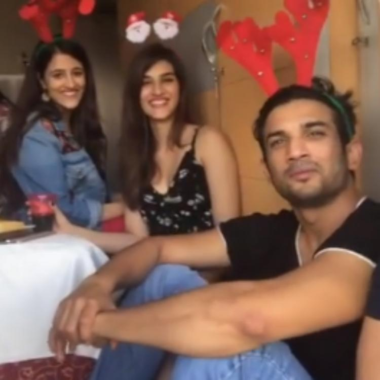 Sushant Singh Rajput enjoying a Christmas party with Kriti Sanon & friends will make you miss him more; Watch