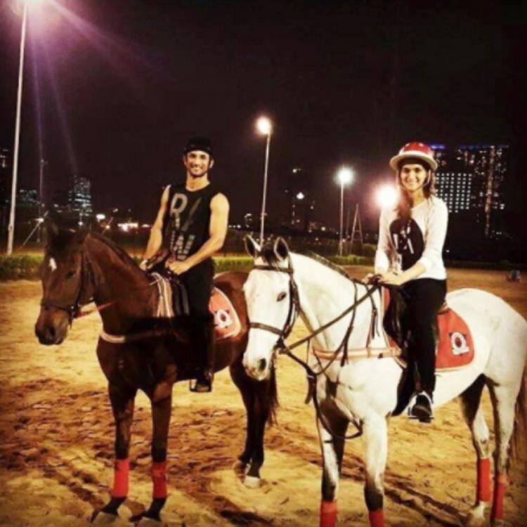 When Sushant Singh Rajput and Kriti Sanon enjoyed horse riding together