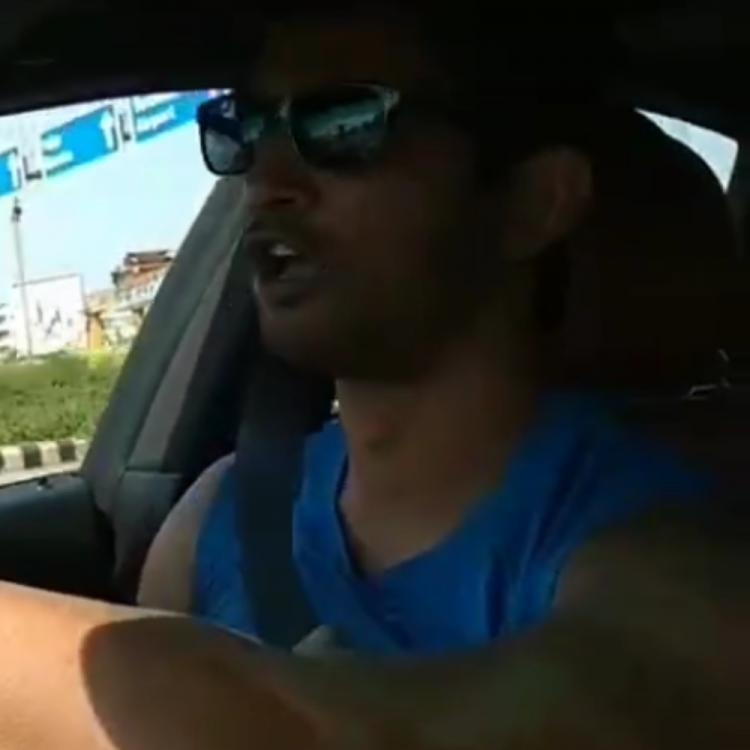 Sushant Singh Rajput recreating Shah Rukh Khan's magic while driving in throwback video is simply heartwarming