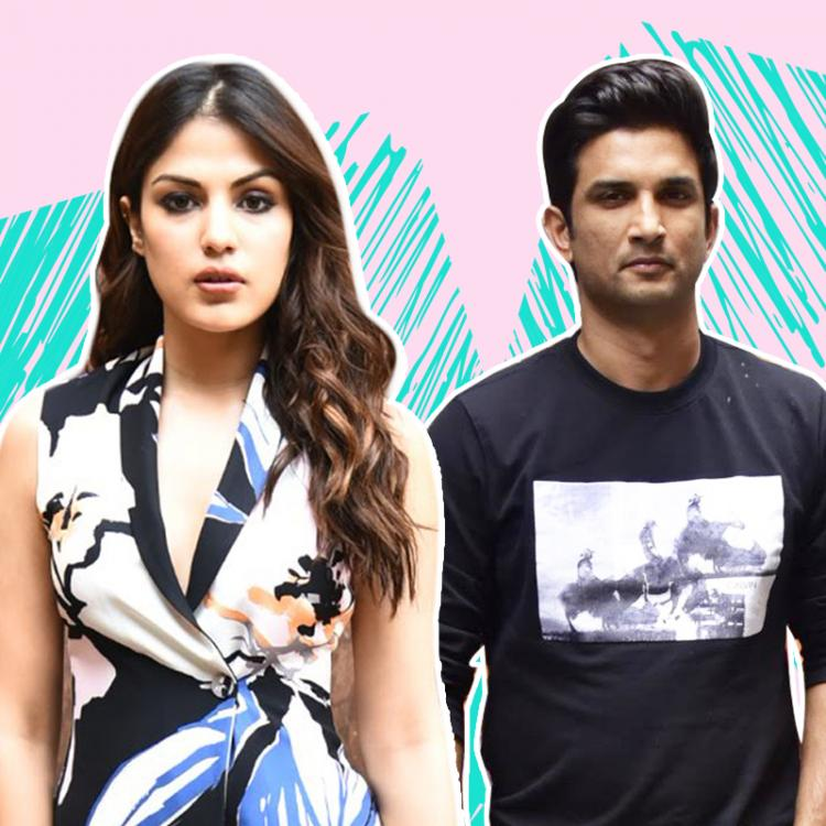 Sushant Singh Rajput and Rhea Chakraborty are seen with a mystery man