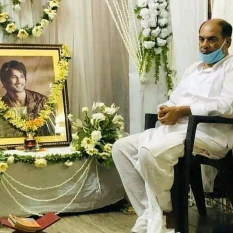 Sushant Singh Rajput's father sitting nearby the late actor's photo during the prayer meet is heartbreaking