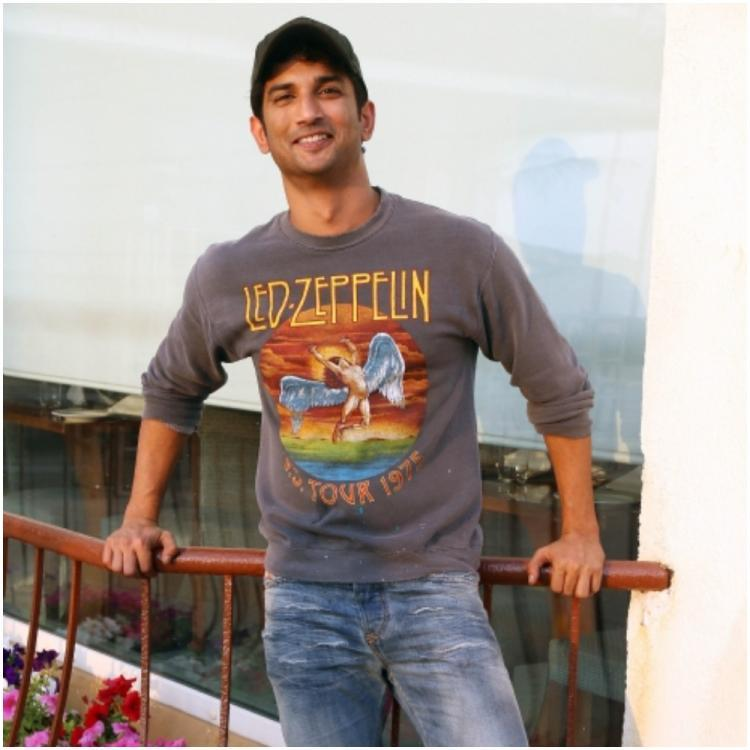 Sushant Singh Rajput poses for camera.