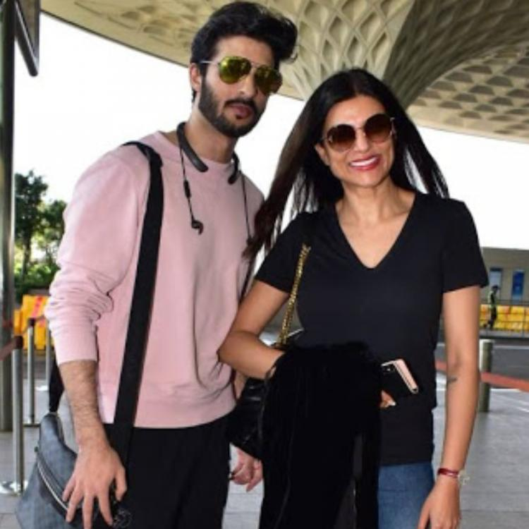sushmita sen and rohman shawl answer a fan about marriage