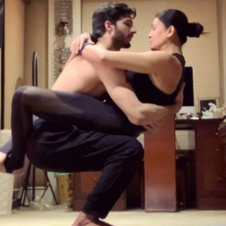 Sushmita Sen sends healing energies to the world with beau Rohman Shawl amid COVID 19 lockdown: Check it out
