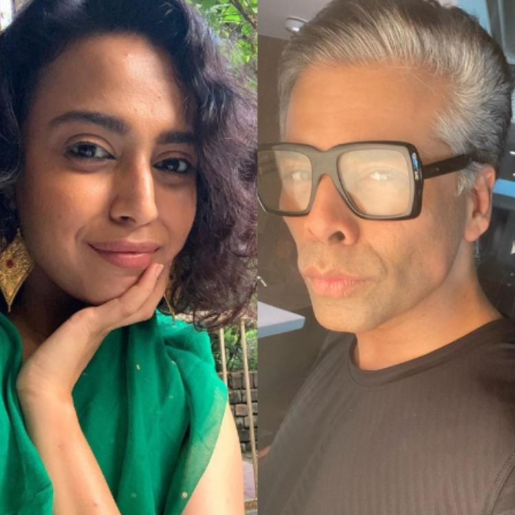 Swara Bhasker backs Karan Johar on nepotism row; Acknowledges him for not removing the comments from his show