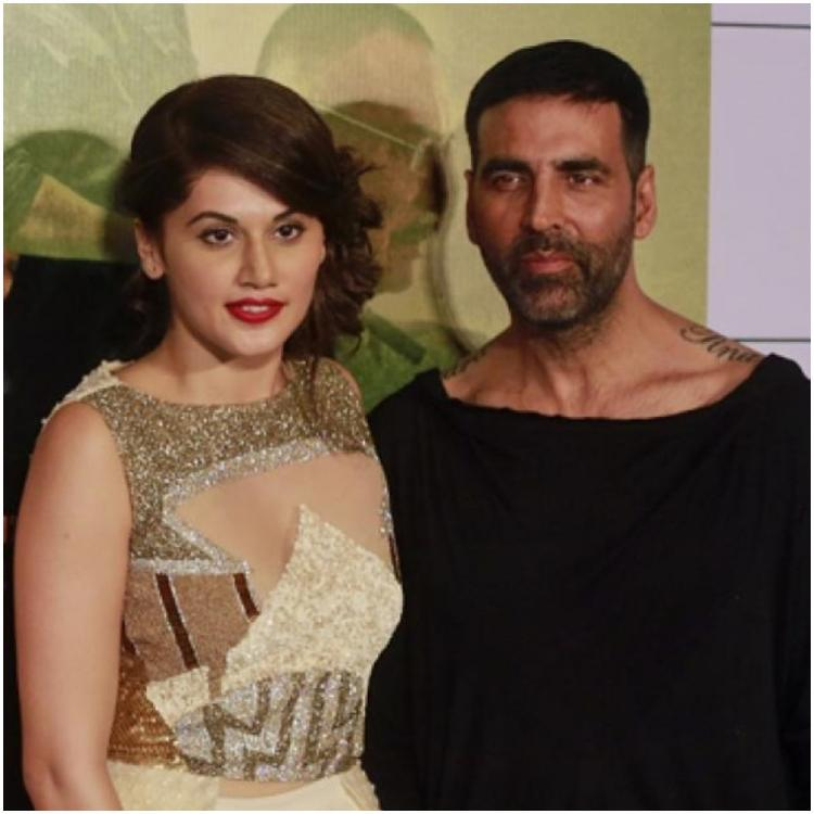 Mission Mangal co stars Akshay Kumar and Taapsee Pannu indulge in a fun Twitter banter; Check it out