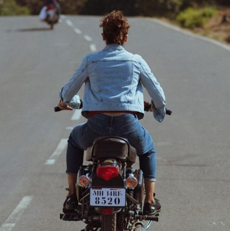 Taapsee Pannu fined for riding without a helmet.