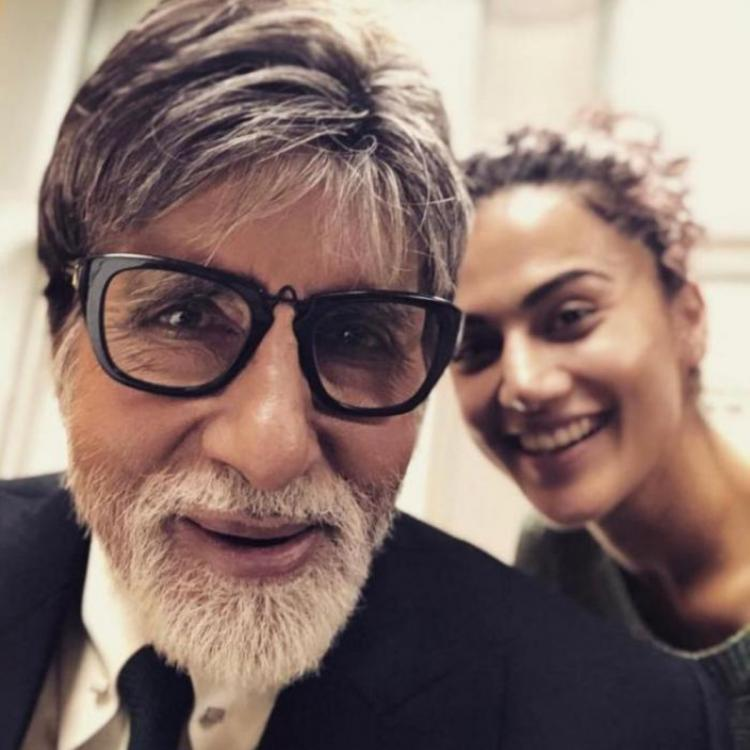 taapsee Pannu with Pink co-star Amitabh Bachchan