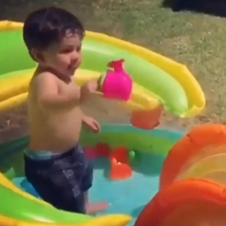 Taimur Ali Khan is one happy kid as he is busy playing with water alone in a rare throwback VIDEO