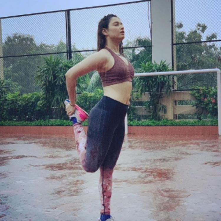Tamannaah Bhatia's workout session is made blissful by the Mumbai monsoons; See PHOTO