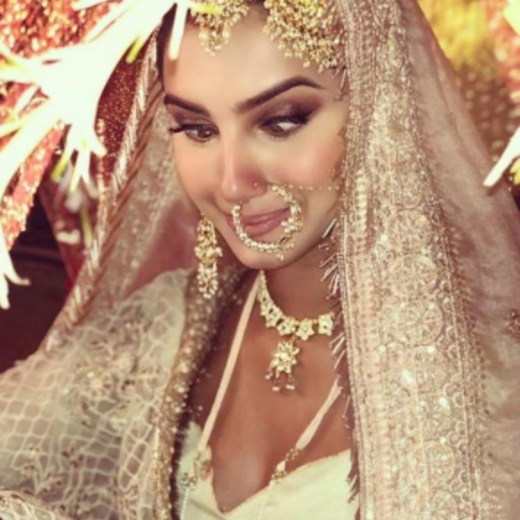 Tara Sutaria in an instagram photo as a bride