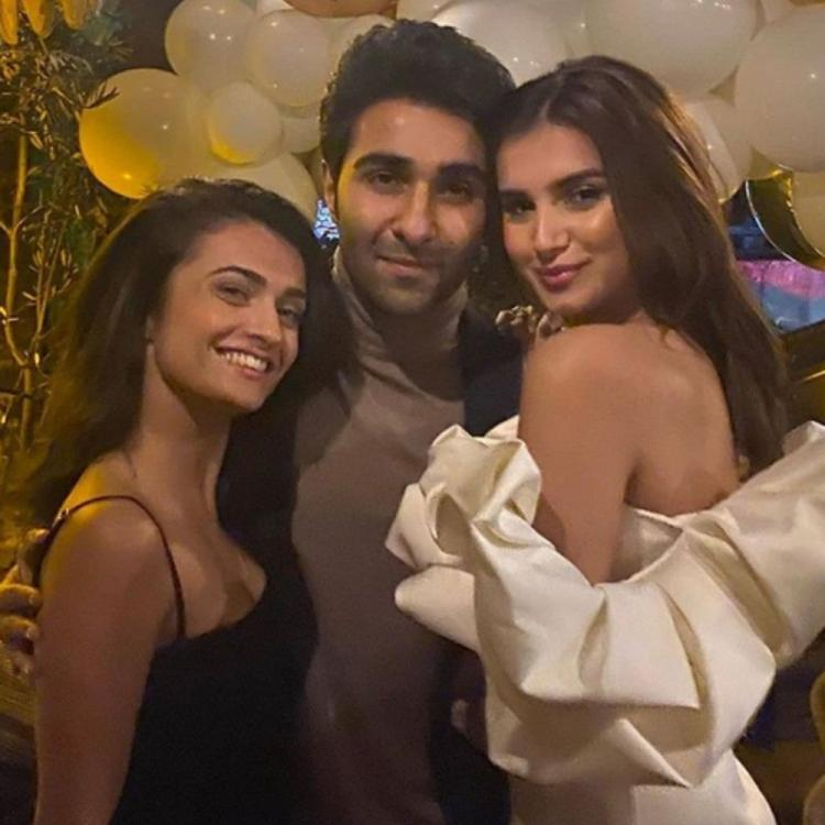 Tara Sutaria & sister Pia posing with Aadar Jain in a throwback PIC is sure to ward off your quarantine blues