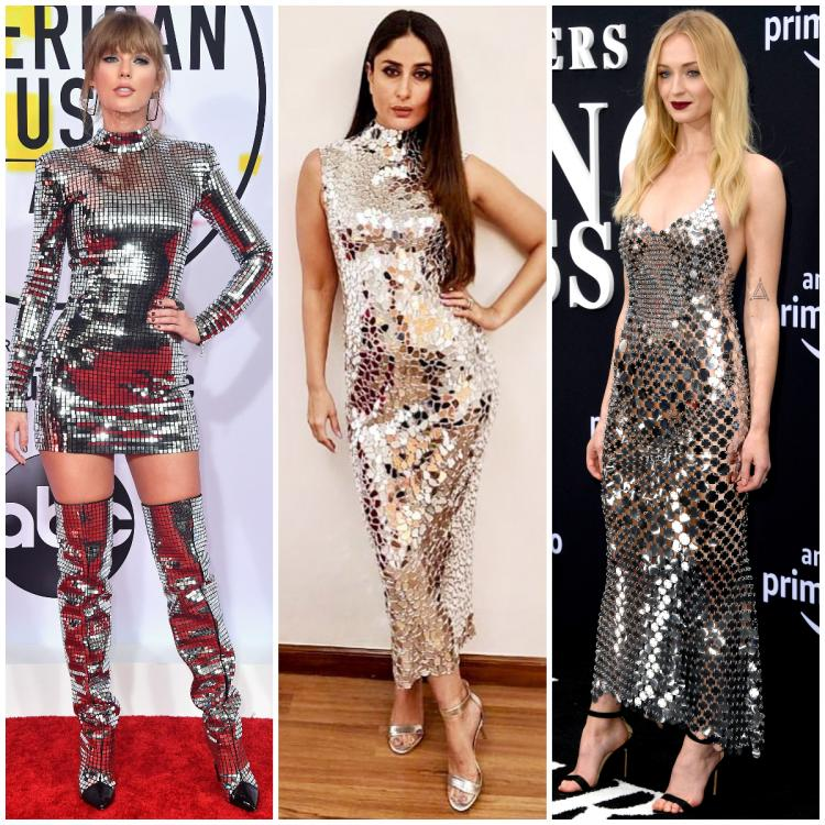 Taylor Swift, Kareena Kapoor to Sophie Turner: When celebrities SWORE by glittery mirror outfits on red carpet