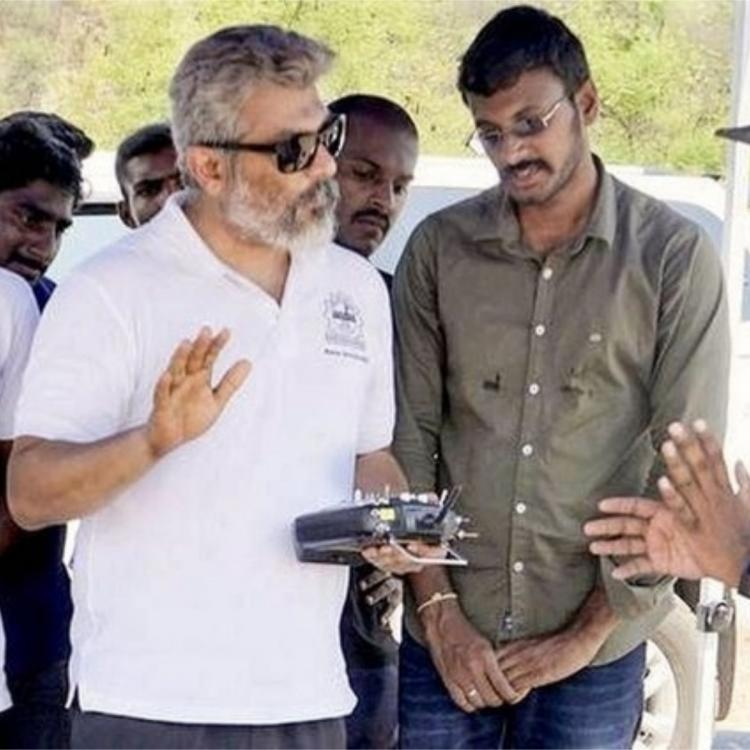 Thala Ajith's Team Dhaksha uses drones to spray disinfectant in Chennai's Corona red zones