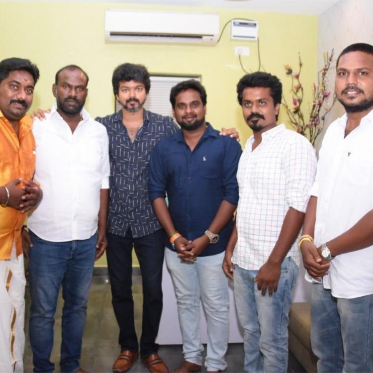 Thalapathy Vijay's recent photoshoot with fans post lockdown take the internet by storm; See PICTURES