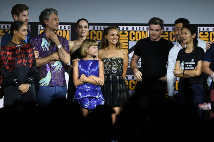 Angelina Jolie, Natalie Portman, Mahershala Ali and more were present at San Diego Comic-Con 2019 for the Phase 4 lineup announcement.