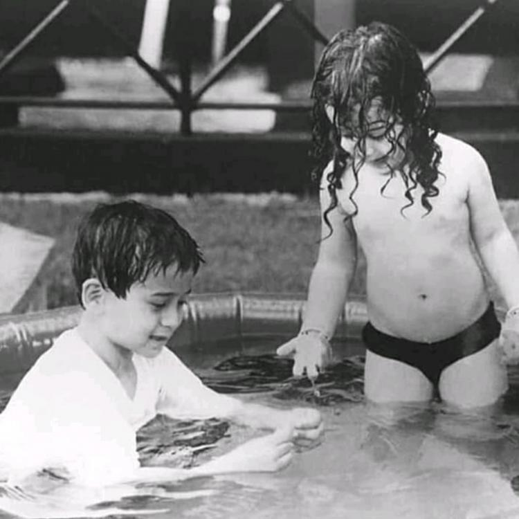 Throwback: Tiger Shroff and Krishna are busy playing in the water in THIS childhood picture; Check it out