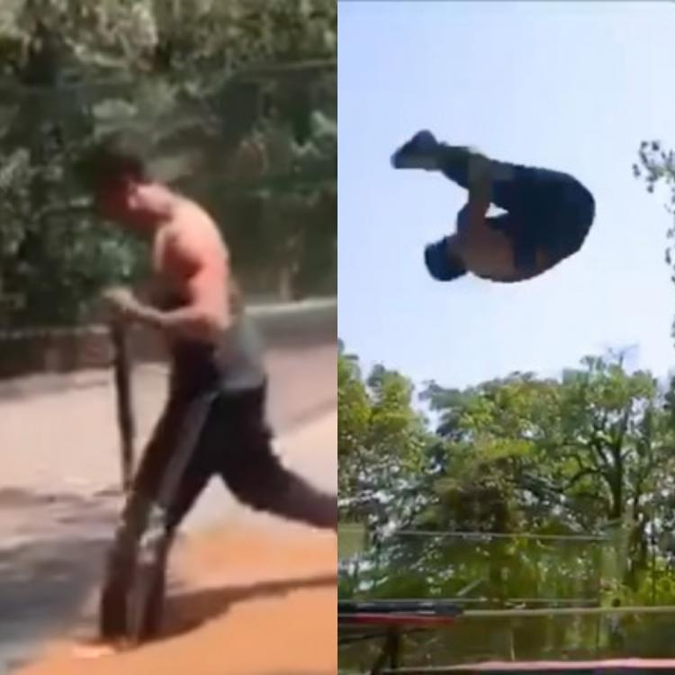 Tiger Shroff pulling off air flips in THIS throwback video will be all of us after the lockdown; Watch