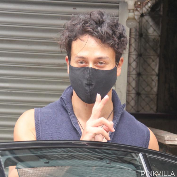 Tiger Shroff photos as he gets snapped on Sunday in city.