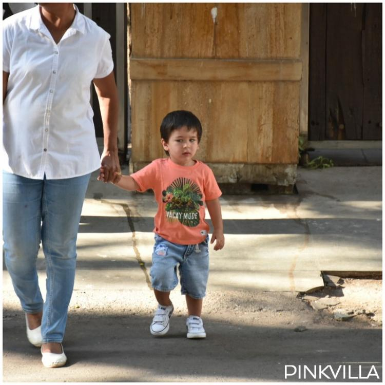 PHOTOS: Taimur Ali Khan is all smiles as the little munchkin goes out on an evening stroll