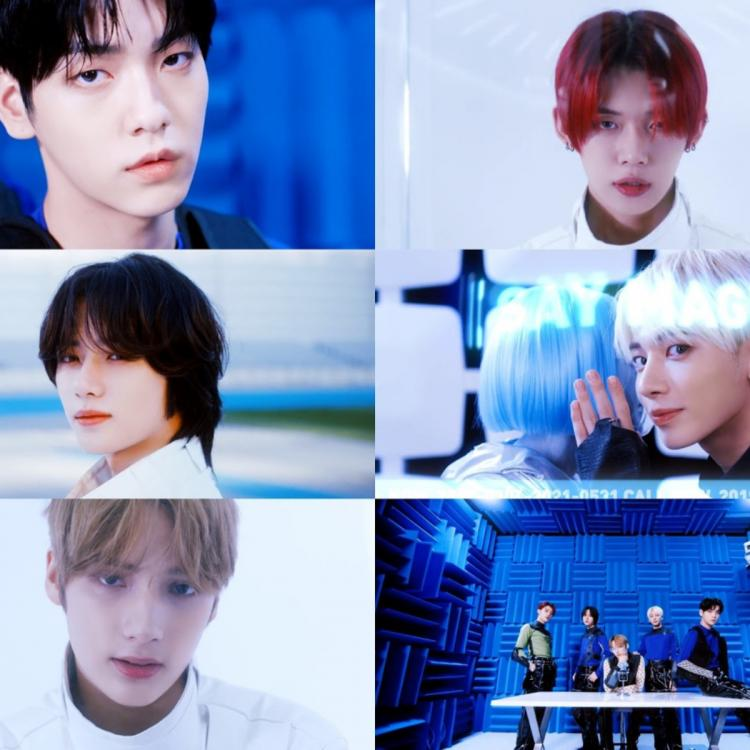 Tomorrow x Together poses for Magic