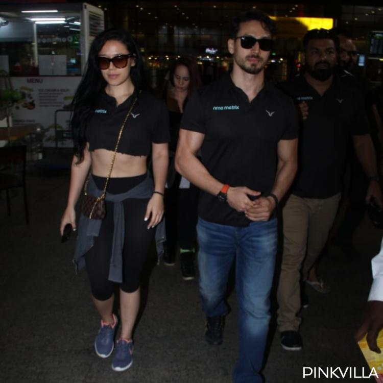 PHOTOS: Tiger Shroff and sister Krishna Shroff are giving major sibling goals as they twin in black outfits