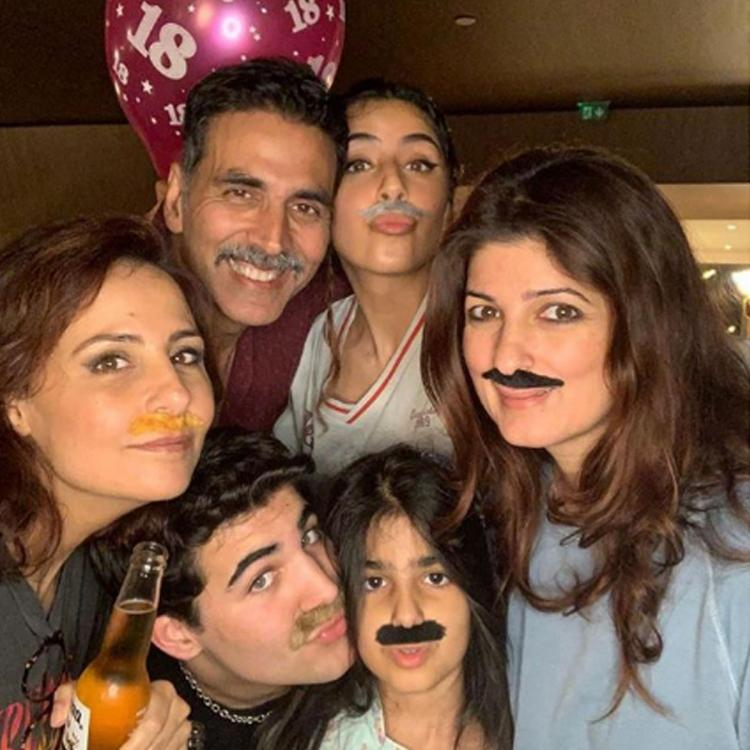 Twinkle Khanna, Akshay Kumar, Nitara on Aarav's 18th birthday celebration