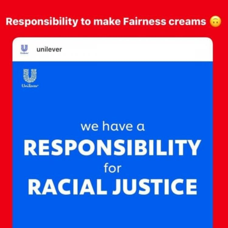Unilever shares Black Lives Matter post; Gets called out for being RACIST and selling fairness creams