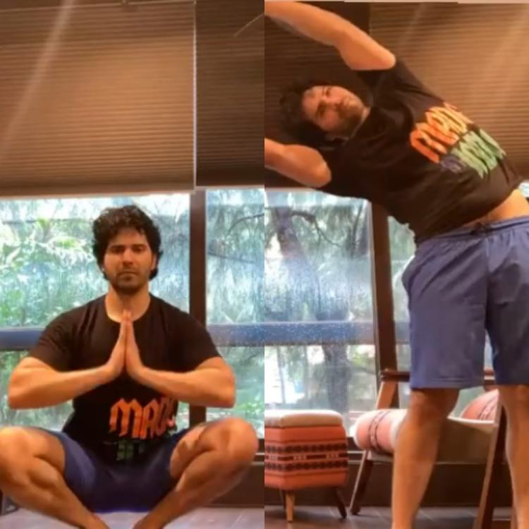 Varun Dhawan sets fitness goals as he takes to yoga amid quarantine leaving fans inspired; Watch