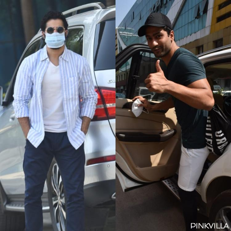 Mask clad Varun Dhawan keeps it cool in shades as he steps out; Vicky Kaushal exits gym with a smile; PHOTOS