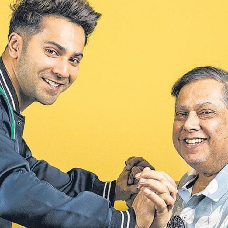 Varun Dhawan takes a lesson from dad David Dhawan as he talks about his film schedule from back in time; WATCH