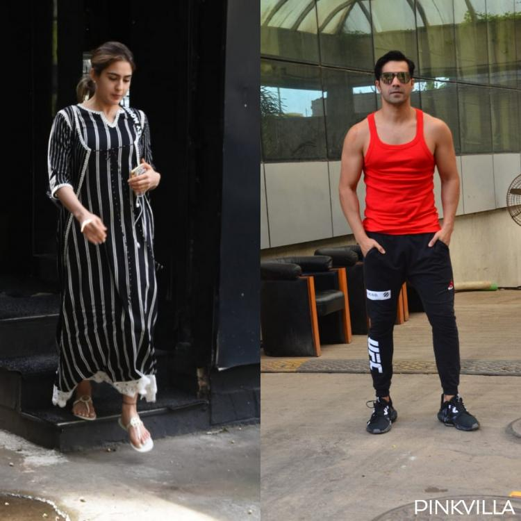 PHOTOS: Sara Ali Khan heads out in ethnic wear while Varun Dhawan sports athleisure wear at the gym