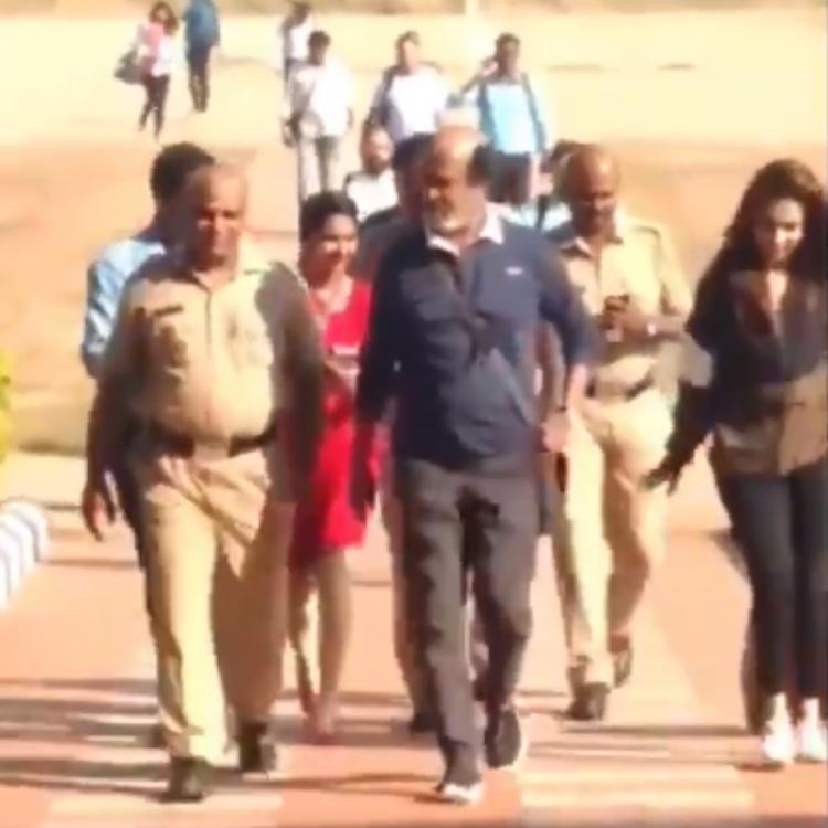 VIDEO: Rajinikanth spotted at Bandipur National Park for Man vs Wild shoot with Bear Grylls