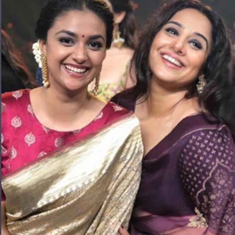 Keerthy Suresh is in awe of Vidya Balan; thanks her with the stunning photo