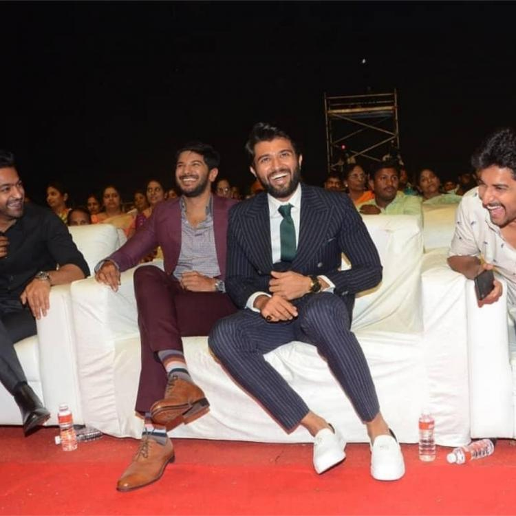 Vijay Deverakonda, Dulquer, Jr NTR & Nani having a barrel of laughs in this throwback PHOTO is worth a watch