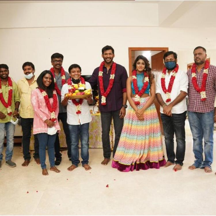 Vishal joins hands with filmmaker Saravanan for his next film; Shooting kickstarts today with official pooja