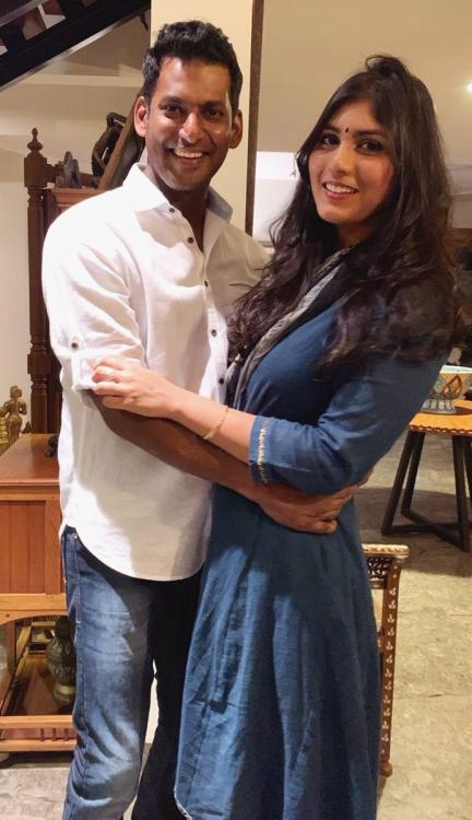 Vishal's fiancé and Arjun Reddy fame Anisha Alla Reddy deletes their engagement pictures