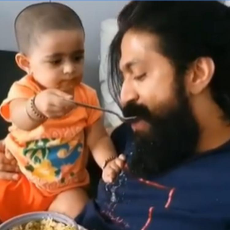 WATCH: KGF star Yash and his daughter Ayra enjoy eating food together during the quarantine period