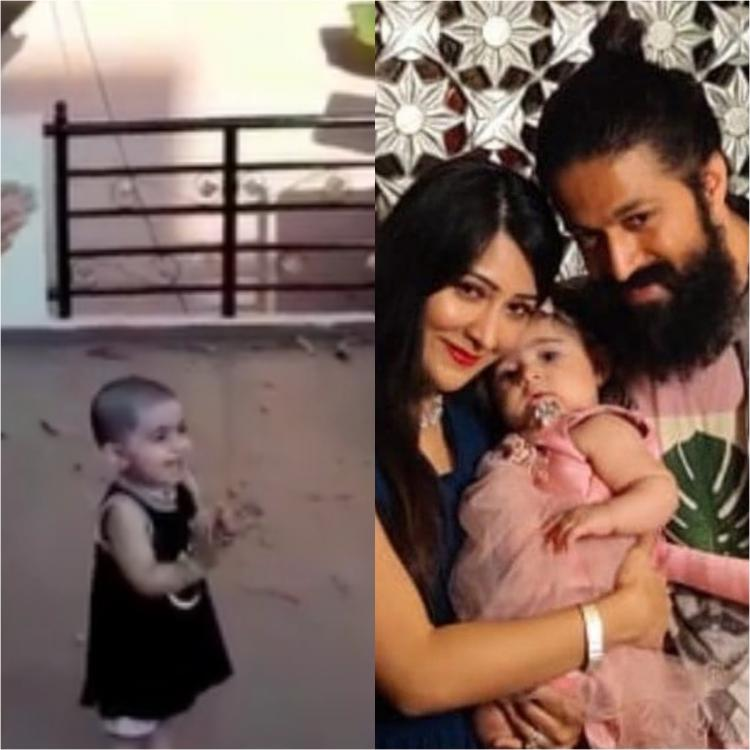 WATCH: KGF star Yash's daughter Ayra claps to support Janta Curfew & it is the cutest thing you will see today
