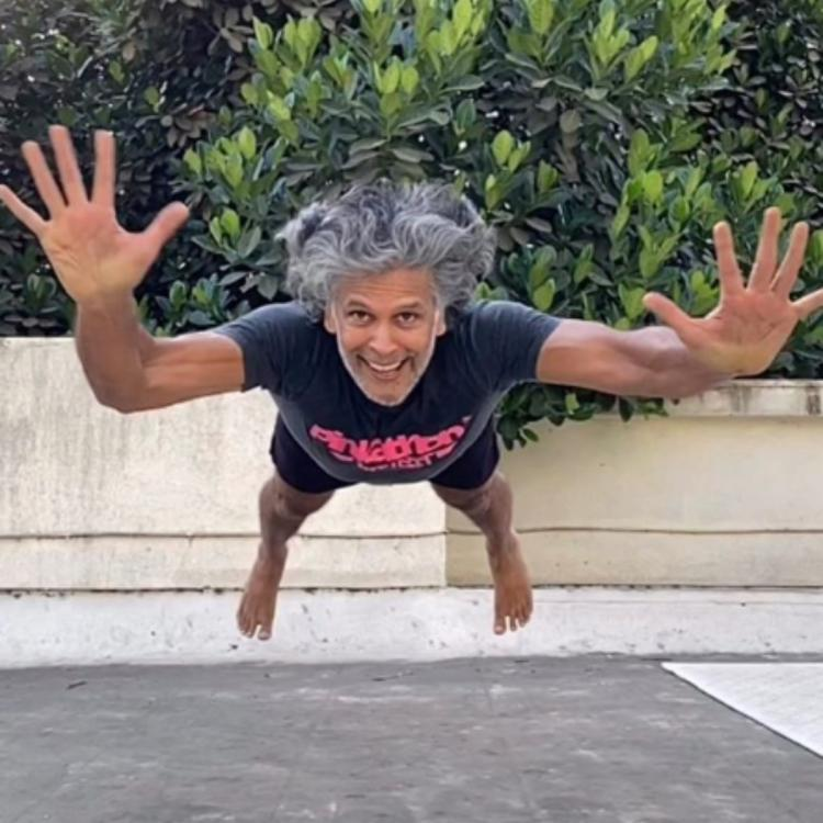 WATCH: Milind Soman gives major fitness goals as he does the 'Superman pushups' amid lockdown