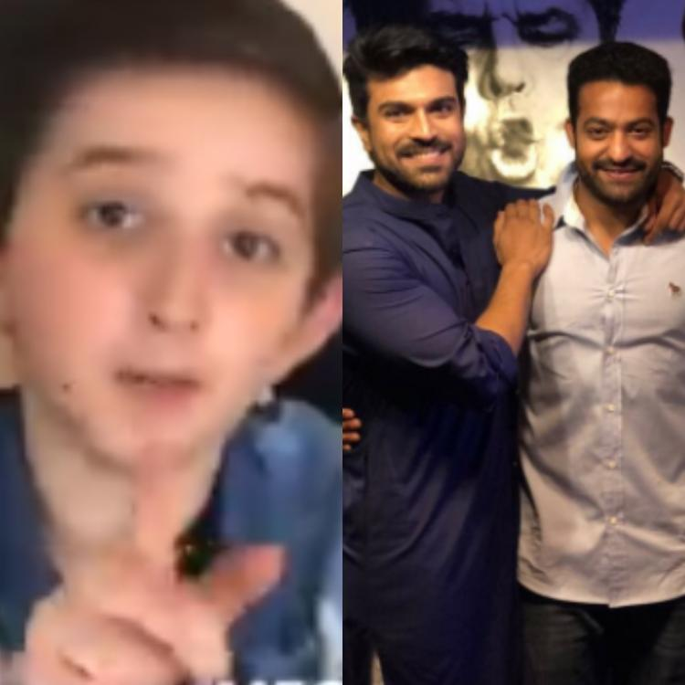 WATCH: Ram Charan's young fan from Poland challenges him to say his RRR co star Jr NTR's dialogue