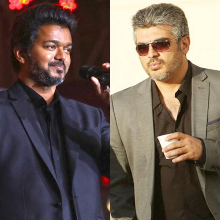 Watch: Thala Ajith's fans roar as Thalapathy Vijay says he wore the black coat to dress like his friend