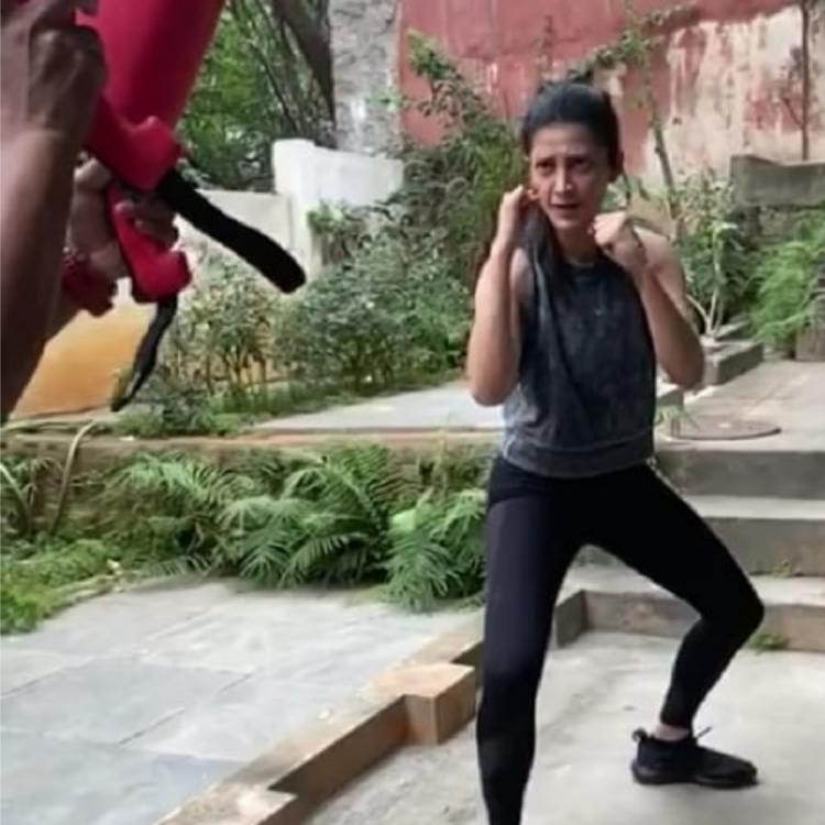 WATCH VIDEO: Shruti Haasan is back at fight training; Says it is her central force