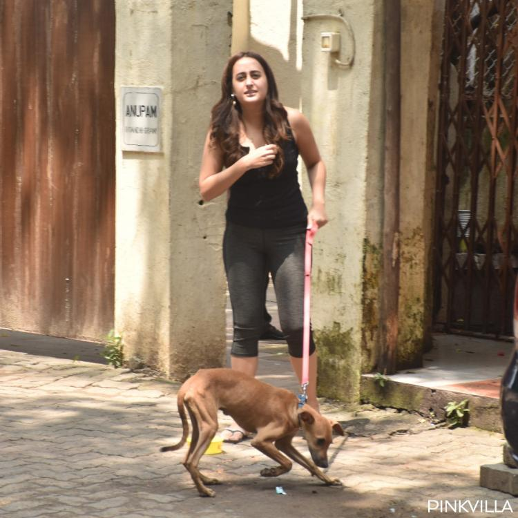 Varun Dhawan's girlfriend Natasha Dalal steps out for a stroll with her pet dog; Check it out