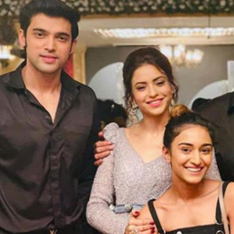 When Aamna Sharif embraced Erica Fernandes while Parth Samthaan was focused on the camera during a group PHOTO