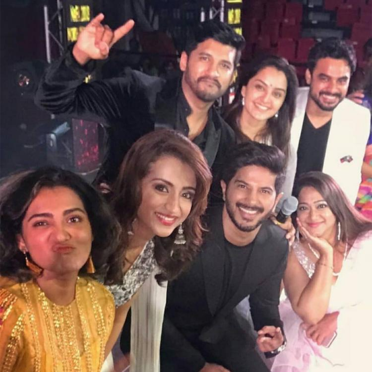 When Dulquer Salmaan, Tovino Thomas, Trisha and Parvathy looked RAVISHING in a star studded throwback photo