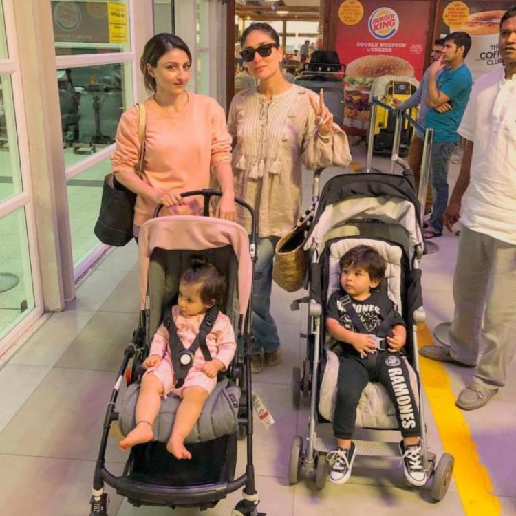 When Kareena Kapoor Khan shared the frame with Soha Ali Khan as Taimur & Inaaya relaxed in their strollers